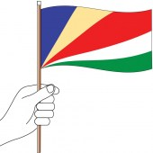 Seychelles Handwaver Flag 300mm x 150mm (Knitted)