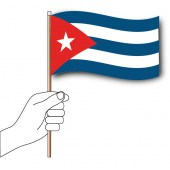 Cuba Hand Flag Handwaver