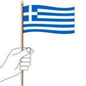 Greece Hand Flag Handwaver