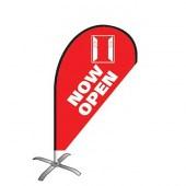 Now Open Small Teardrop Flag Kit