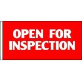 Open For Inspection Flag