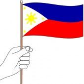 Philippines Hand Flag Handwaver