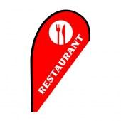 Restaurant Small Red Teardrop Flag Kit