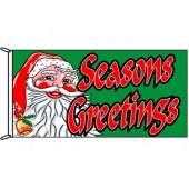 Seasons Greetings Flag (green background)