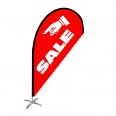 Sale Small Red Teardrop Flag Kit