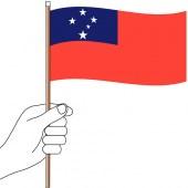 Samoa Hand Flag Handwaver
