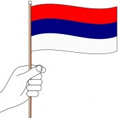 Serbia Hand Flag Handwaver