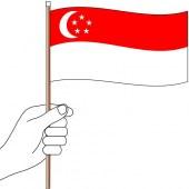Singapore Hand Flag Handwaver