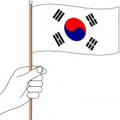 South Korea Hand Flag Handwaver