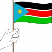 South Sudan hand flag handwaver
