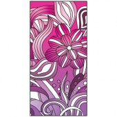 Spring Flag Pink and Purple 900mm x 1800mm (Knitted)