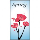 Spring Flag 3 Flowers  900mm x 1800mm (Knitted)