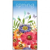 Spring Flag Flowers 900mm x 1800mm (Knitted)