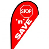 Stop N Save Teardrop Flag