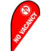 No Vacancy Small Teardrop Flag