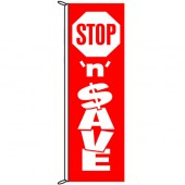 Stop 'N' Save Flag 900mm x 3000mm (Knitted)