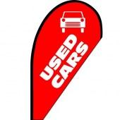 Used Cars Small Teardrop Flag
