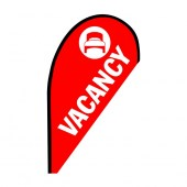 Vacancy Small Red Teardrop Flag Kit