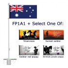 Flagpole, Australian Flag plus select one Lest We Forget flag