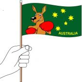 Fighting Kangaroo Hand Flag Handwaver