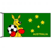 Fighting Kangaroo with Football Flag