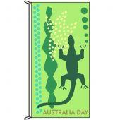 Australia Day Lizard Flag