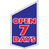 Open 7 day shop front banner