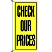 Check Our Prices Flag