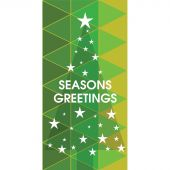 Seasons Greeting Tree with Stars Green 900mm x 1800mm (Various FInishes)