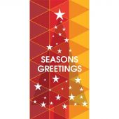 Seasons Greeting Tree with Stars Red 900mm x 1800mm (Various FInishes)