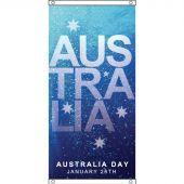 Australia Day flag design, eyelet finish.