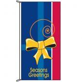 Seasons Greetings Blue Tie