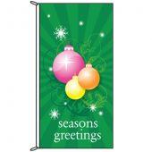 Seasons Greetings Green Bauble Flag