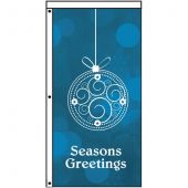 Seasons Greetings blue bauble flag