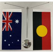 Australian Aboriginal Metal Base Desk Set