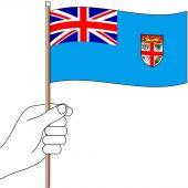 Fiji Hand Flag Handwaver