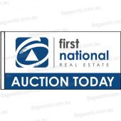 First National Auction  Flag