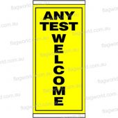 Any Test Welcome Flag