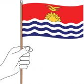 Kiribati Hand Flag Handwaver