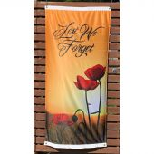 Lest We Forget Field and Poppies flag