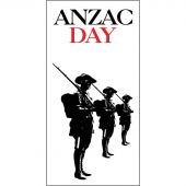 ANZAC Day Flag - Three Soldiers (45)