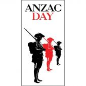 ANZAC Day Flag  - Three Soliders (40)