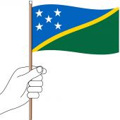 Solomon Islands Hand Flag Handwaver