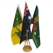 Australian Sports Desk Flag Set