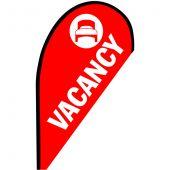 Vacancy Small Teardrop Flag