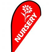 Nursery Small Teardrop Flag