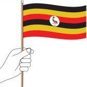 Uganda Hand Flag Handwaver