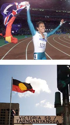 Cathy Freedman Aboriginal flag