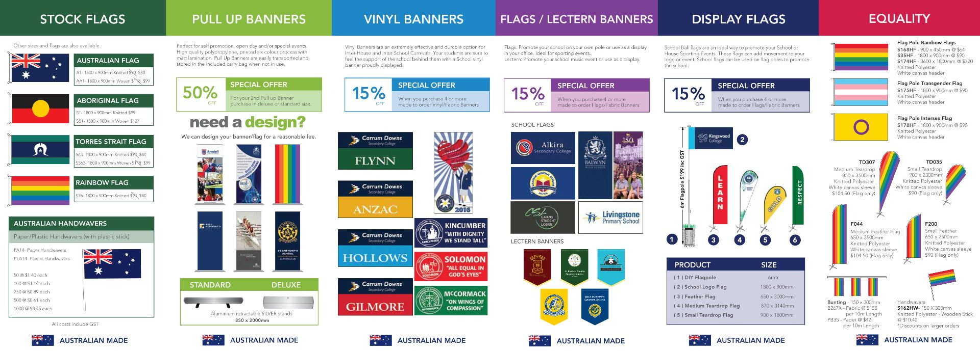 School flags page 1